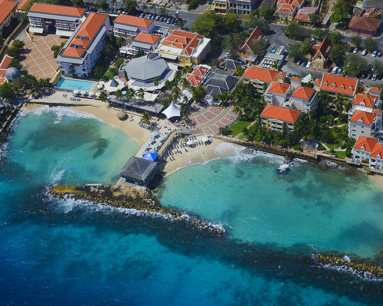 Blue Bay Beach Resort, Curacao Drone Shot