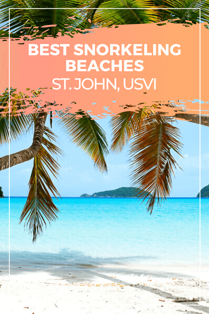 Maho Beach with text overlay of Best Snorkeling Beaches St. John USVI