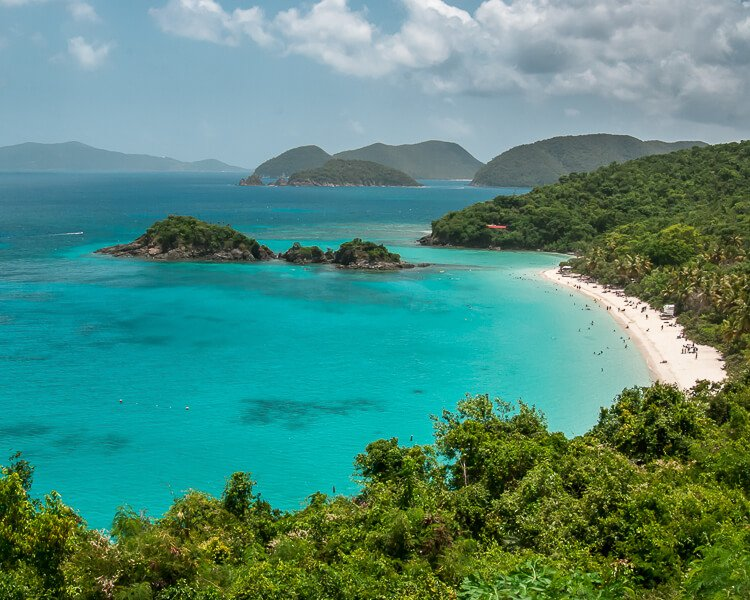 Trunk Bay, St. John from overlook above the beach