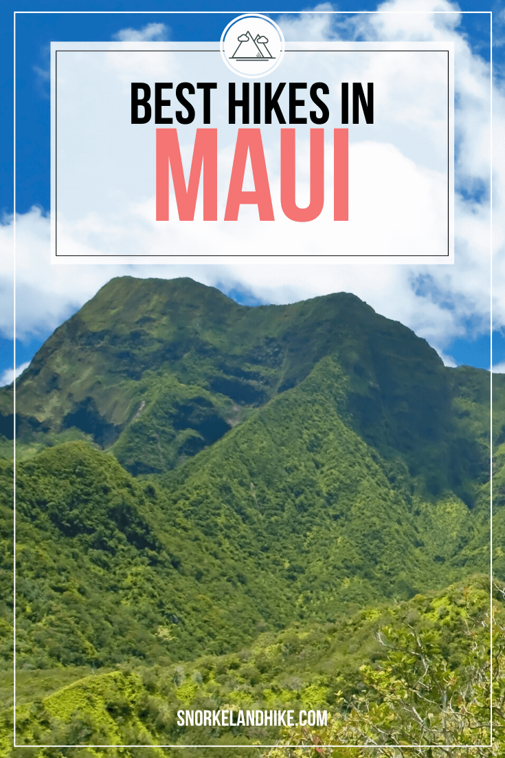 view of Mountains at Iao Valley State Park, Text Overlay, Best Hikes in Maui