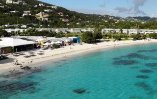 Aerial photo of Sapphire Beach, St. Thomas, Virgin Islands