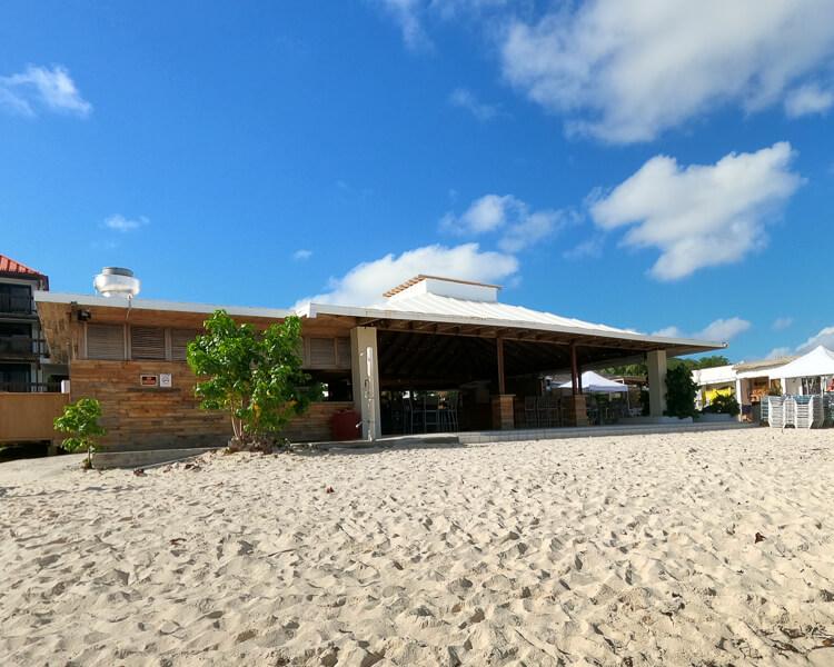 beach bar at Sapphire Beach
