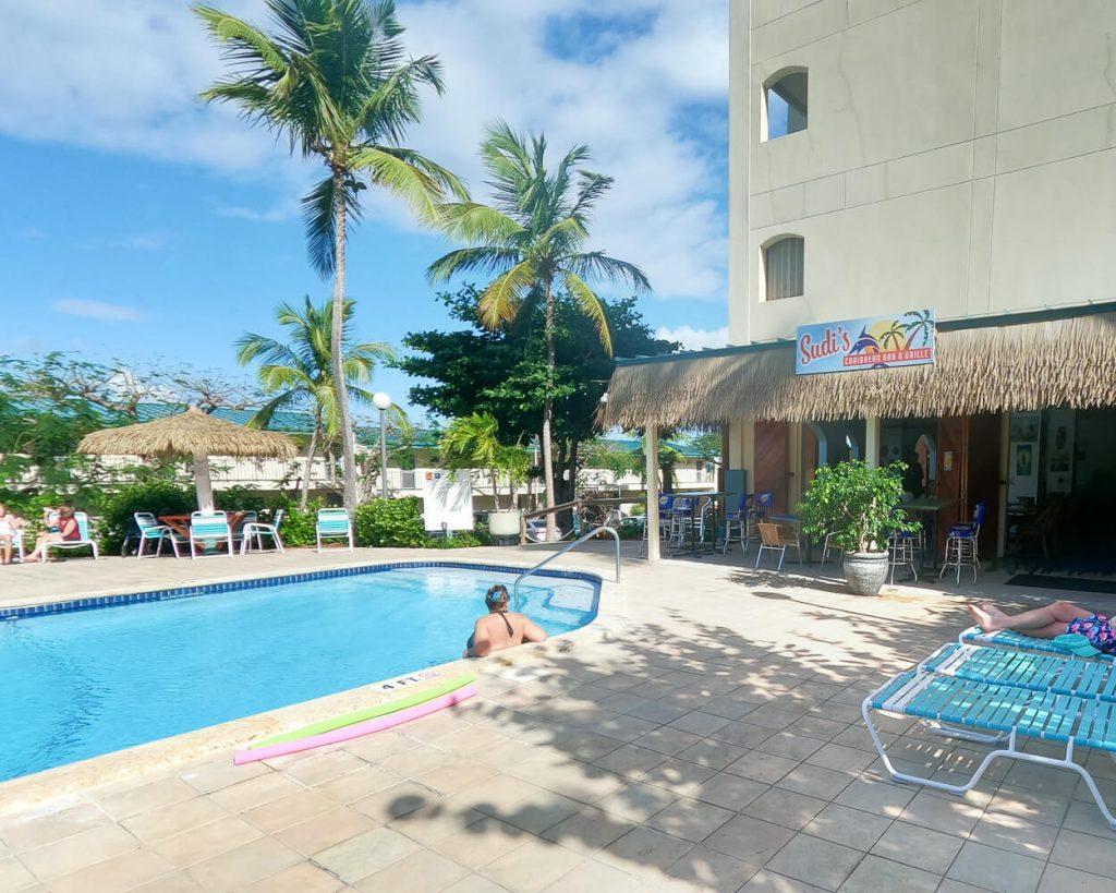 Sudi's Restaurant St. Thomas, USVI exterior of restaurant and pool