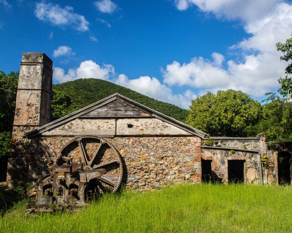 sugar mill plantation ruins on the reef bay trail