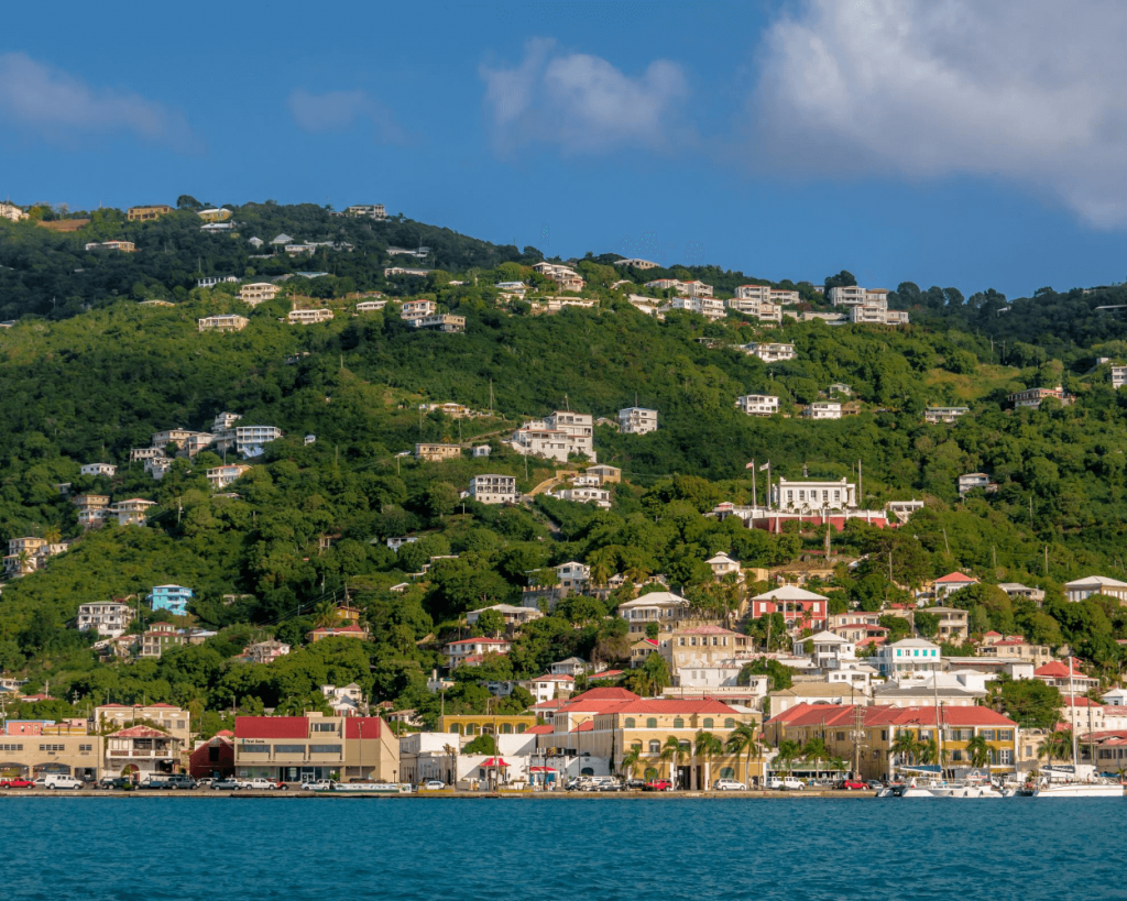 Charlotte Amalie, St. Thomas from the harbor