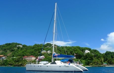 catamaran sailing in the Virgin Islands