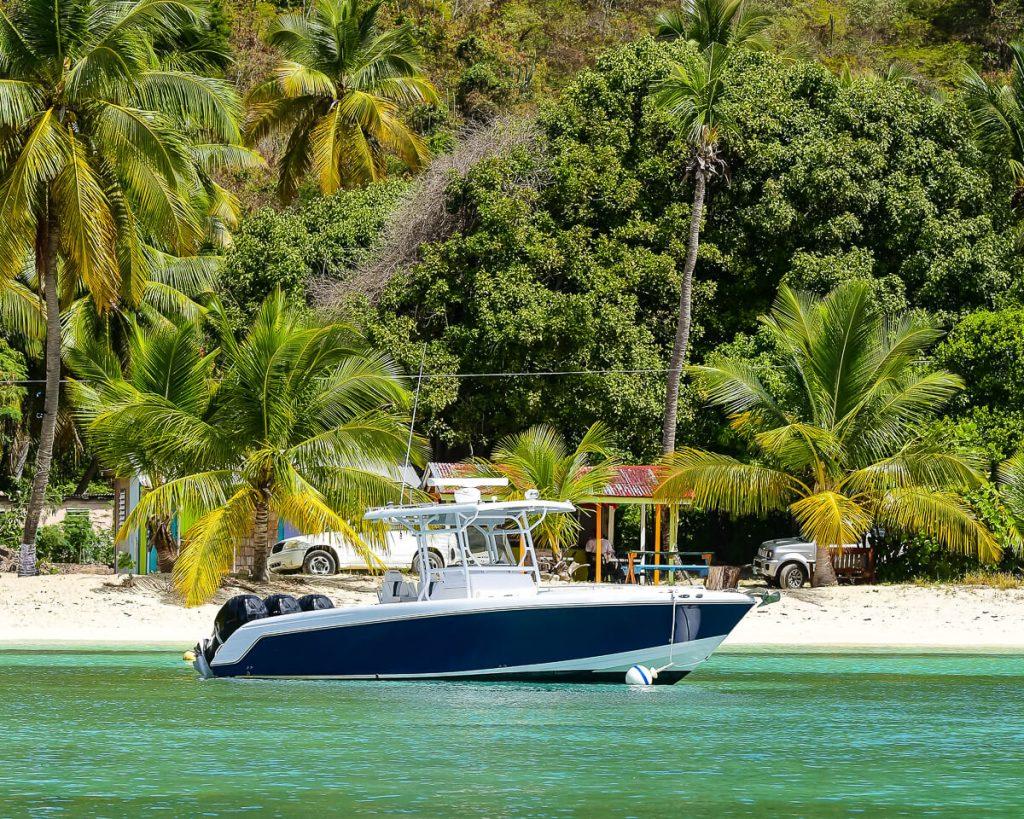 power boat in the virgin islands