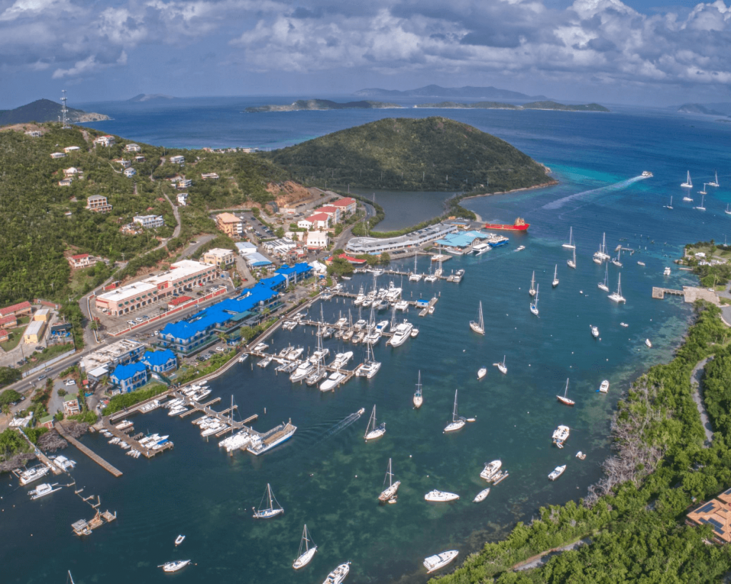 Aerial view of Red Hook, St. Thomas, USVI