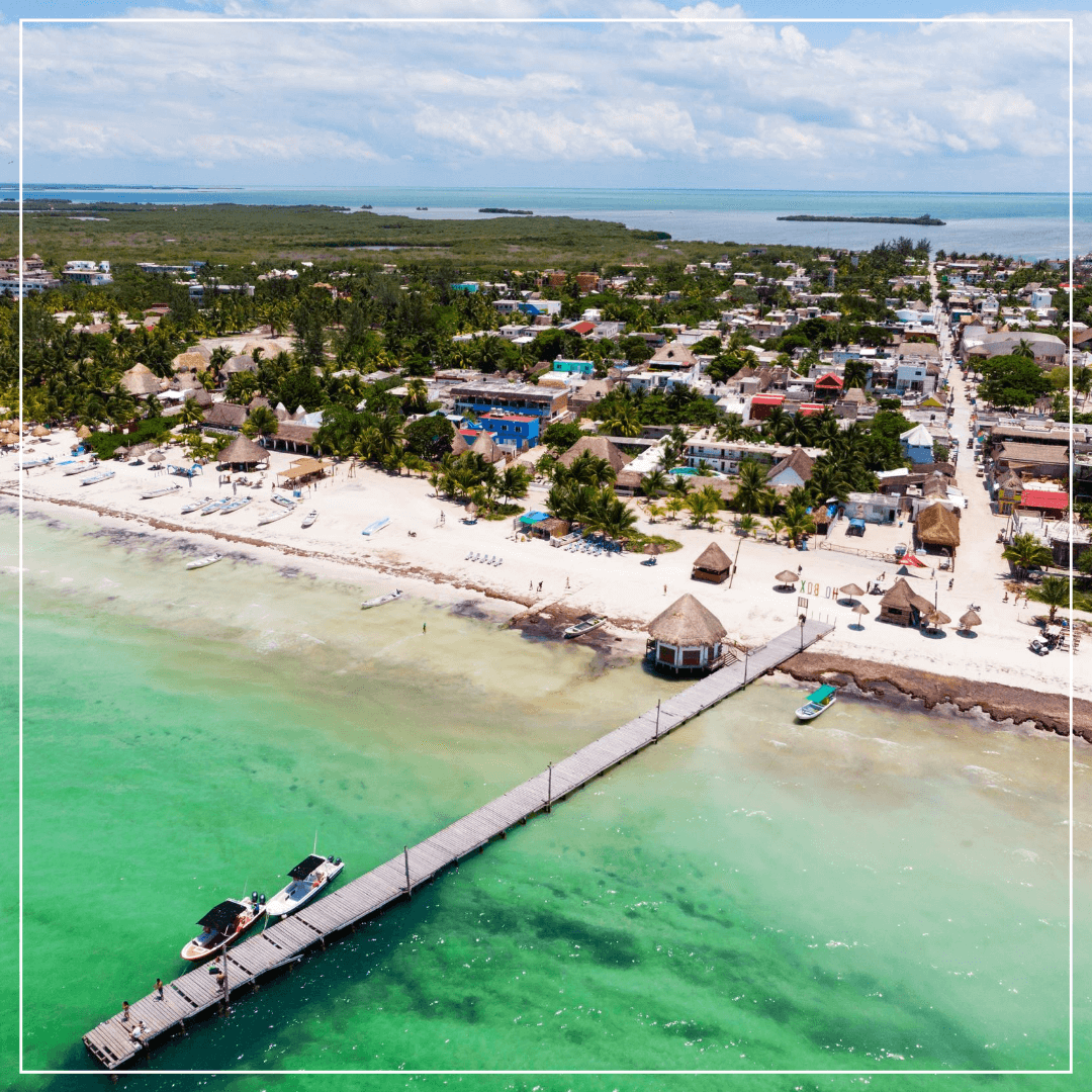 aerial view of isla holbox