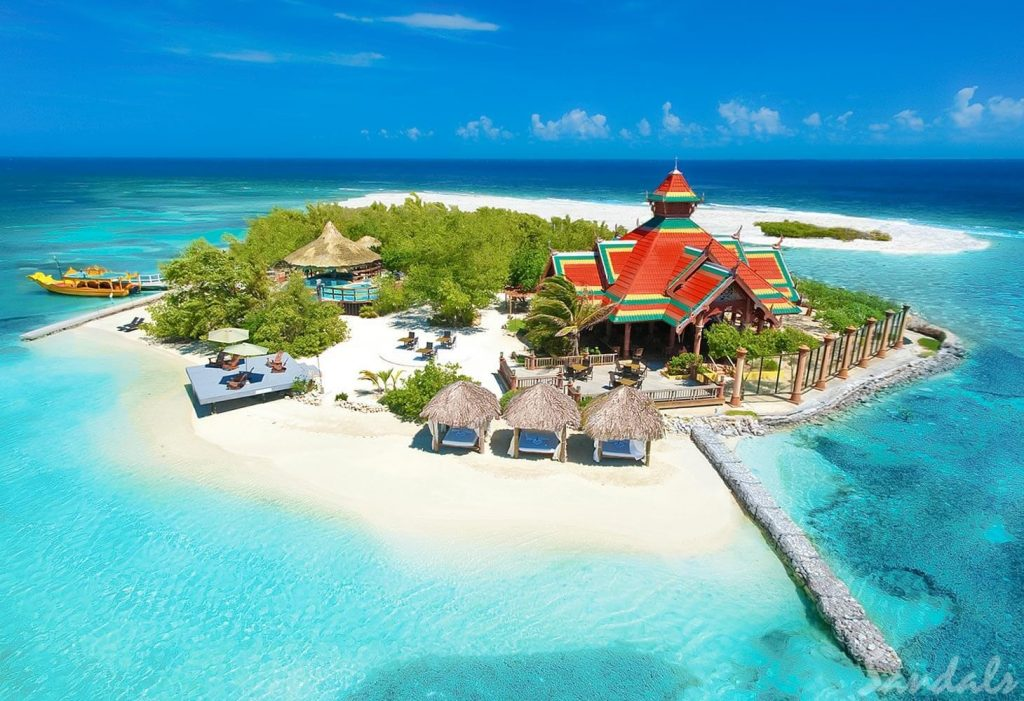 Sandals Cay Aerial View