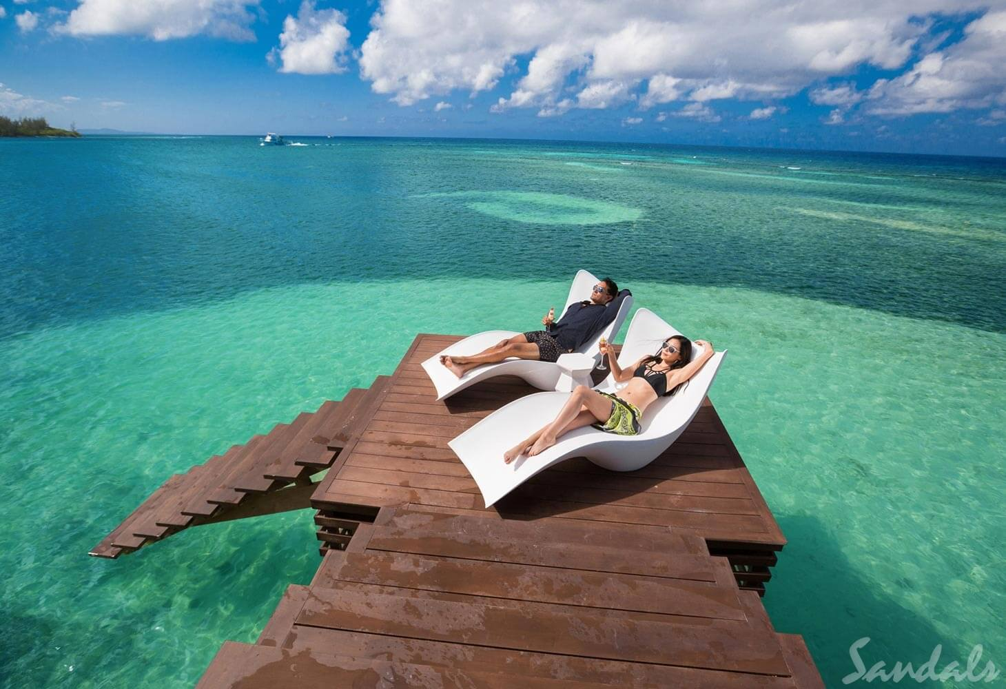 Sandals Royal Caribbean Overwater Deck