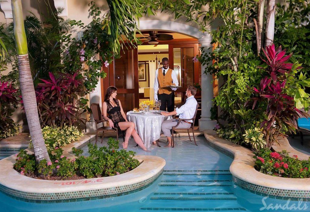 Sandals Royal Caribbean Swim up Suite