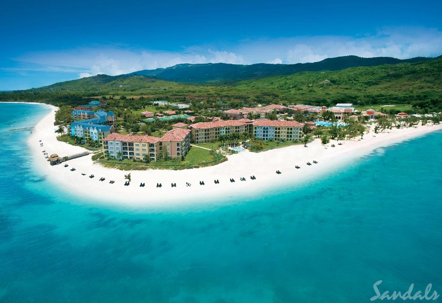 Sandals South Coast Aerial View