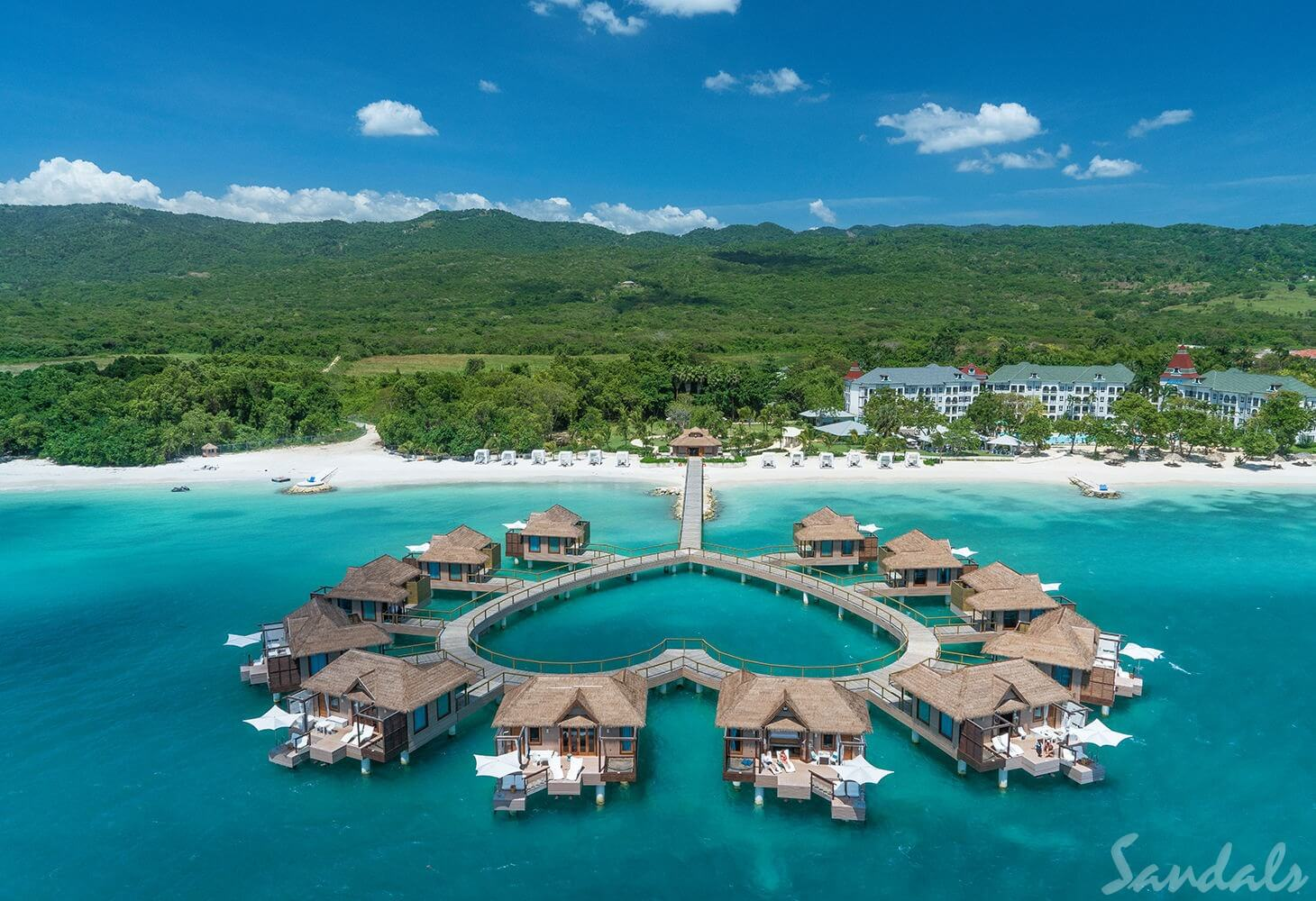 Sandals South Coast Overwater Bungalows Aerial
