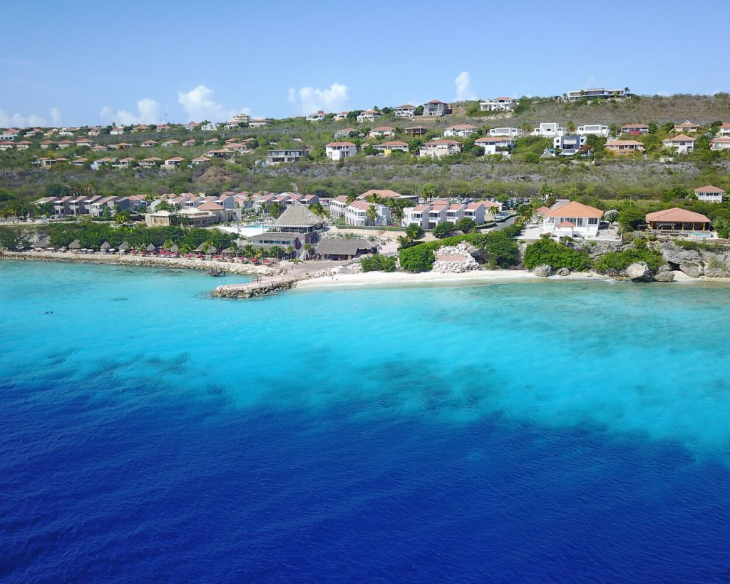 Aerial view of Coral Estate in Curacao