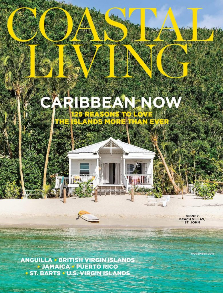 Gibney Cottage from the water  on the cover of Coastal Living