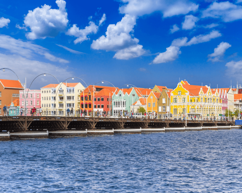 Queen Emma Bridge and Punda Curacao