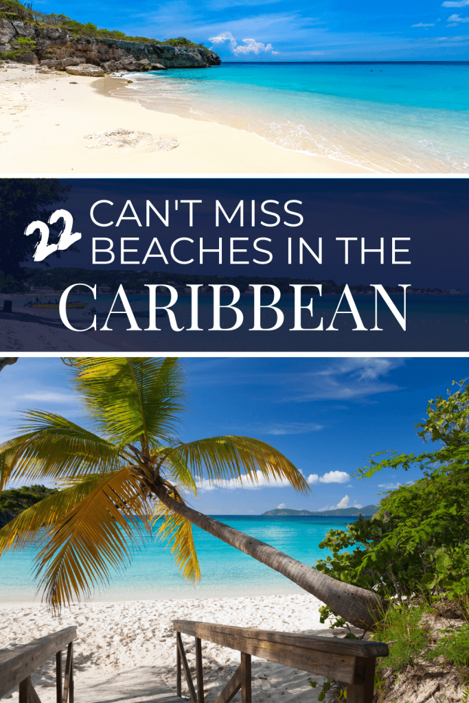Best Beaches in the Caribbean Pin with Text overlay