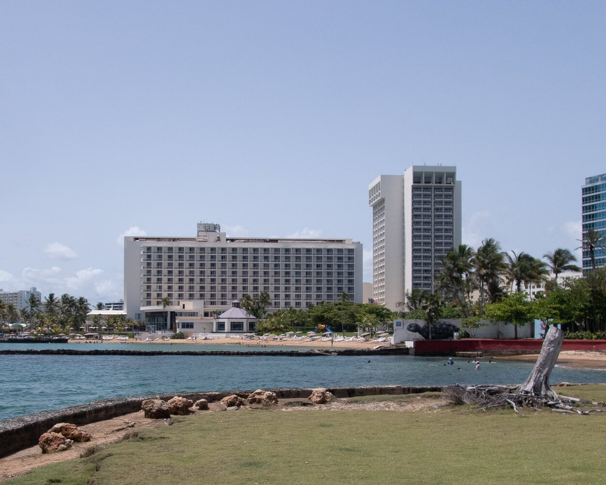 Caribe Hilton from Escambron Marine Park